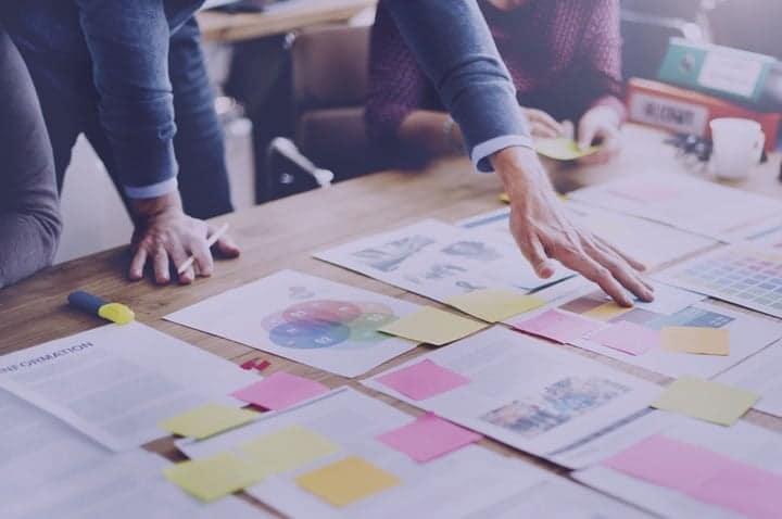 Team developing a digital strategy