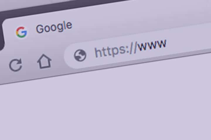 Browser window showing domain name